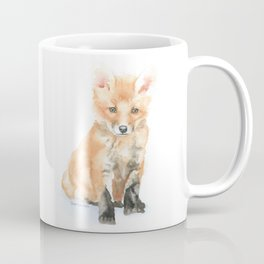 Baby Fox Watercolor Painting - Woodland Animal Coffee Mug