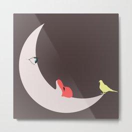 Moon love Metal Print