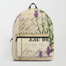 Lavender Antique Rustic Flowers Vintage Art Backpack