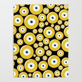Evil Eye (yellow) Poster