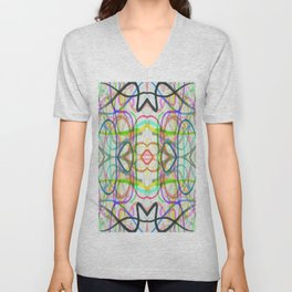 scribble, scribble on the wall Unisex V-Neck