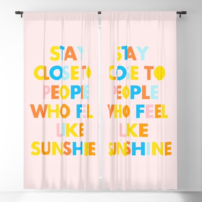 Sunshine People Blackout Curtain