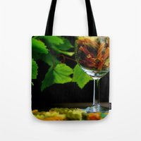 pasta Tote Bags featuring Tricolor Pasta by Tanja Riedel