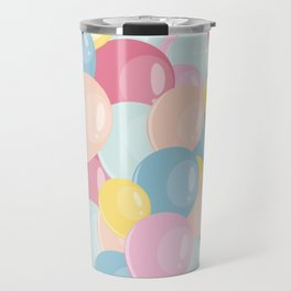 Happy birthday party balloons Travel Mug