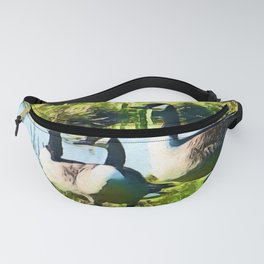 Canada Geese Dream   Painting Fanny Pack