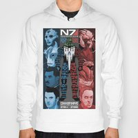 n7 Hoodies featuring N7: The Male Squad by Alex Rodway Illustration