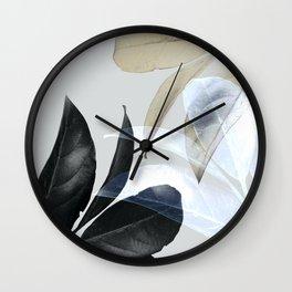 Moody Leaves II Wall Clock