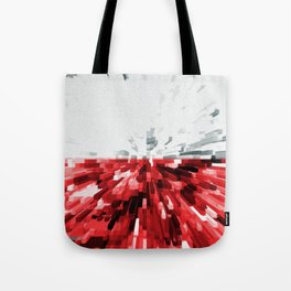 Extruded flag of Poland Tote Bag