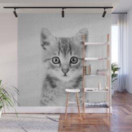 Kitten - Black & White Wall Mural