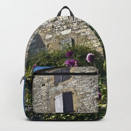 French village with a Medieval Castle Backpack