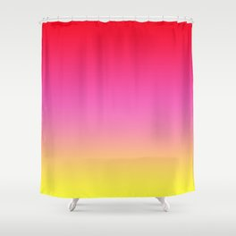 Red Pink Yellow Gradient Shower Curtain