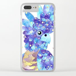 Black Cockatoo Watercolour Collage Clear iPhone Case