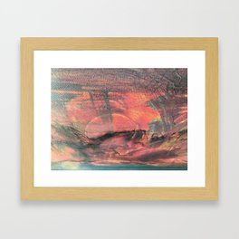 Sonnenuntergang Framed Art Print
