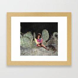 Girl Reading 2 Framed Art Print