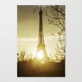 Paris eiffel tower and Seine river. Canvas Print