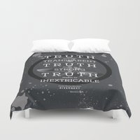divergent Duvet Covers featuring Candor Manifesto by Tiffany 10