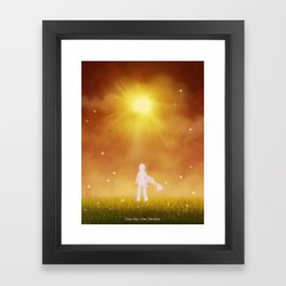 ONE SKY Framed Art Print