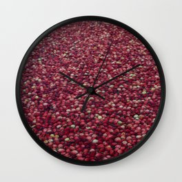 cranberry party Wall Clock