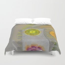 Quaternary Strategy Flowers  ID:16165-142241-78321 Duvet Cover