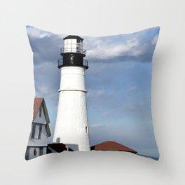 Coastal Maine Throw Pillow