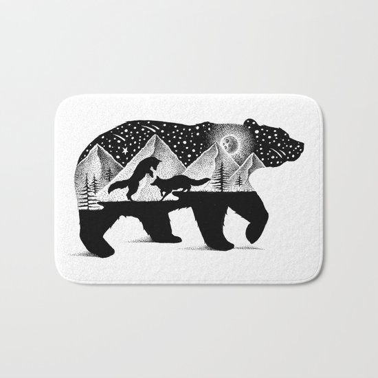 THE BEAR AND THE FOXES Bath Mat