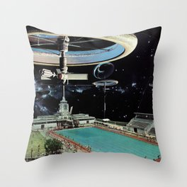 A Pool Out Back Throw Pillow