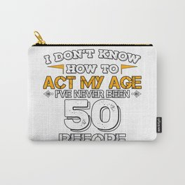 Birthday Gift 50 Years Fifty Born 1968 Carry-All Pouch
