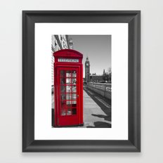 Big Ben and Red telephone box Framed Art Print