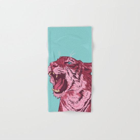 Magenta tiger Hand & Bath Towel