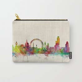 London Skyline Watercolor Carry-All Pouch