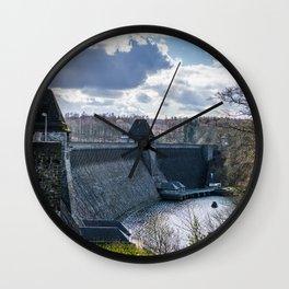 Möhne Reservoir Barrage Wall Sauerland Germany Wall Clock
