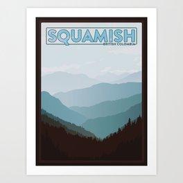 Squamish British Colombia Art Print