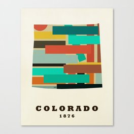 colorado state map modern Canvas Print