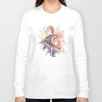 hetalia Long Sleeve T-shirts featuring NedBel - Flowers by jali-jali