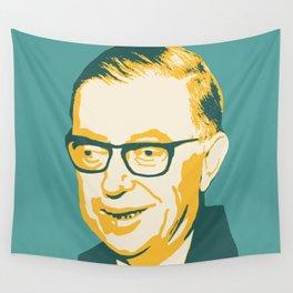 Jean-Paul Sartre Wall Tapestry