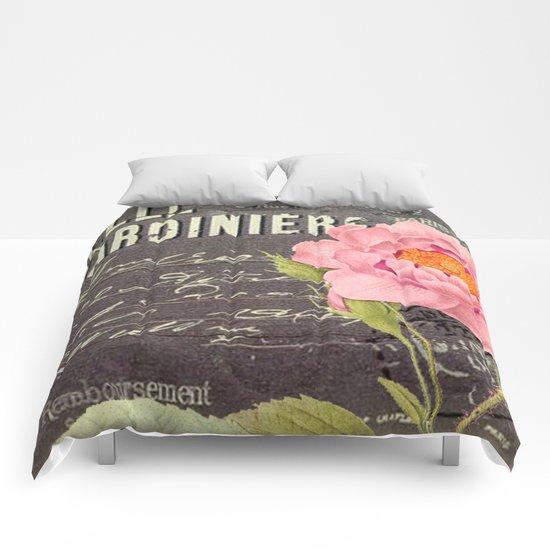 Vintage Flowers #5 Comforters