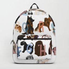 Dog Alphabet Backpack