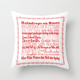 A Few of My Favorite Things - Red Throw Pillow