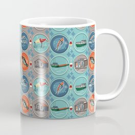 Fish Town Michigan Coffee Mug