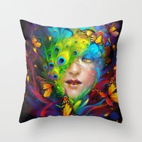 alchemy Throw Pillows featuring Alchemy by Lena Richards
