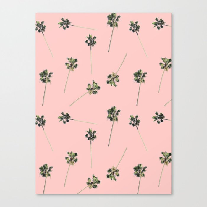 Palms on Pink Canvas Print