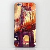 takmaj iPhone & iPod Skins featuring Queensboro Bridge by takmaj