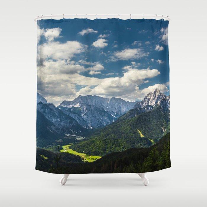 Stunning Julian alps Shower Curtain