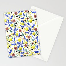 Graphic Floral Pattern Stationery Cards