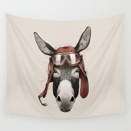 95th Reconnaissance Squadron Donkey Airman Wall Tapestry