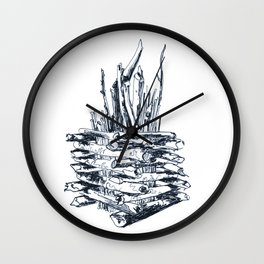 Bonfire Wall Clock