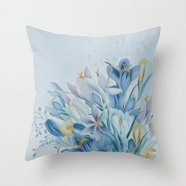 Lovely Spring Crocus Throw Pillow