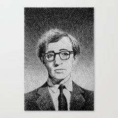 Woody Allen portrait  Canvas Print