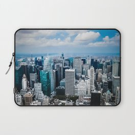 From New York to the Sky at the Manhattan Big Apple Dream Laptop Sleeve