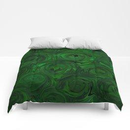 Emerald Green Roses Comforters